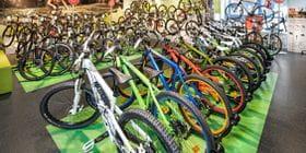 Viele verschiedene Fahrräder im Shop <br/>