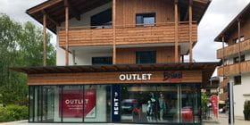 External view of the Bründl Sports shop Kaprun Outlet