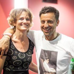 photo shows Elisabeth Rendl and a man