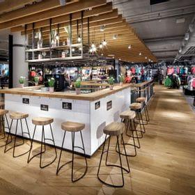 Bar in the Bründl Sports shop in Salzburg – McArthurGlen Designer Outlet center