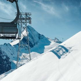 Animated picture of the 3K connection on the glacier kitzsteinhorn in kaprun
