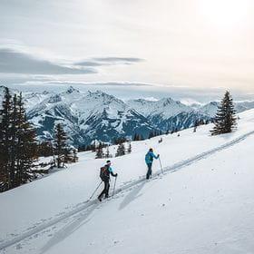 Skitour Shooting Schmitten Aufstieg