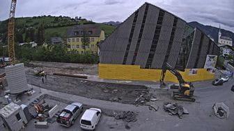 Aufnahme des Baufortschritts des Bruendl Flagshipstore im Mai 2020
