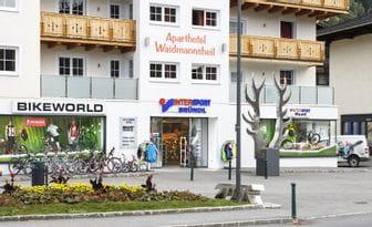 Waidmannsheil Shop Außenansicht