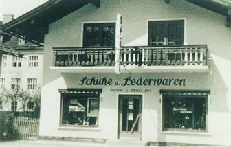eine alte Aufnahme des Bründlgeschäfts aus dem Jahre 1967