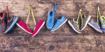 illustration of running shoes