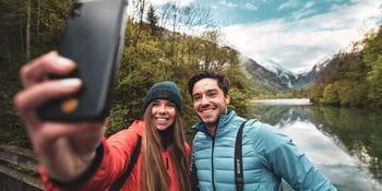 Katharina und Max Selfie am Klammsee