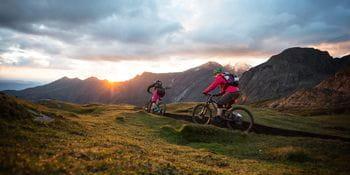two bikers in Kaprun