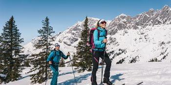 Ein Paar bei einer Skitour auf den Hochkeil, Hochkönig
