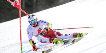 Stefan Brennsteiner beim Riesentorlauf in Bansko.