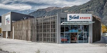 Outer View Bründl Sports Saalfelden with a huge parking space <br/>