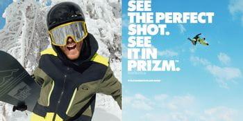Oakley Ambassador Stale Sandbeech wearing Oakley Prizm goggles