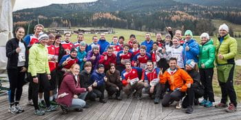 group photo of the running group