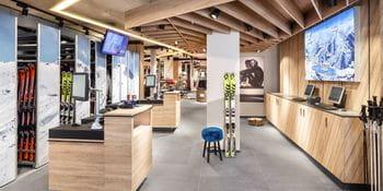 Bright and appealing rent area at Bründl Sports Orgler Shop <br/>