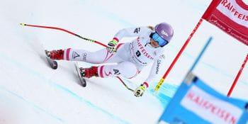 Skistar Michaela Kirchgasser during a worldcup race.