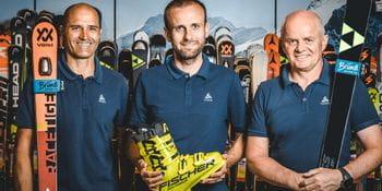 Das Team des Bründl Sports Racing Service von links nach rechts: Hans Hofer, Fabian Stiepel, Manfred Rogetzer