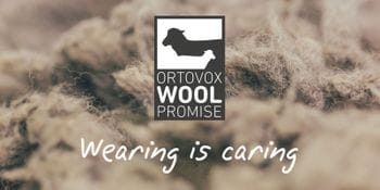 wool with the logo of Ortovox Wool Promise