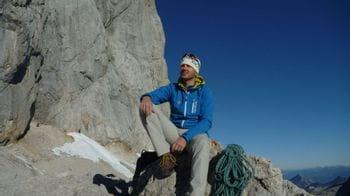 Ortovox Bergführer Wolfgang Rohrmoser unterwegs in den Bergen