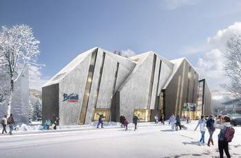Ansicht des neuen Bründl Sports Flagshipstores in Kaprun
