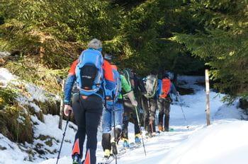 Skitourengruppe im Aufstieg