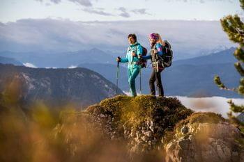 Gerlinde Kaltenbrunner while hiking