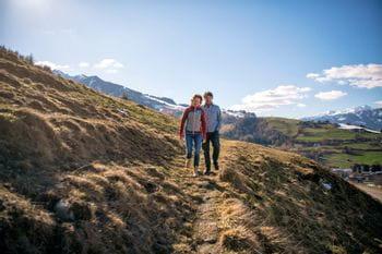Bernhard and Elisabeth hiking
