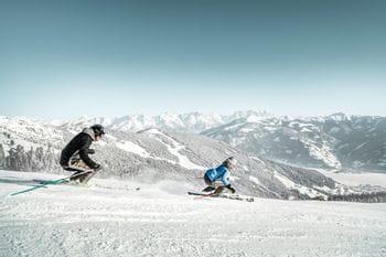 to skiers at Schmitten