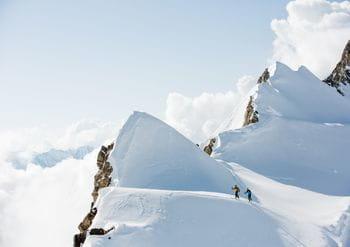 Two athletes on a skitour