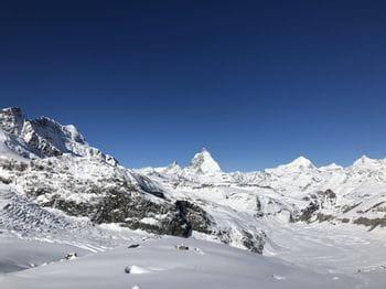 Snowy mountains in Switzerland