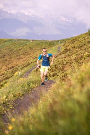 Christoph Kohlberger beim Trail Running auf der Schmittenhöhe ausgestattet von Dynafit