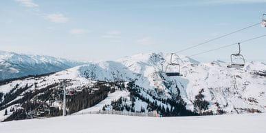 mountain panorama at the Schmittenhöhe