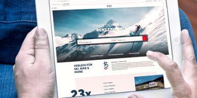 Bründl Sports Online Skiverleih - einfach zu Hause übers Tablet Ski ausleihen