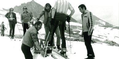 Skiläufer am Kitzsteinhon 1974