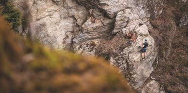 Maurice Dommes am Klettersteig