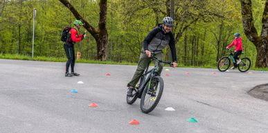E-Bike Fahrsicherheitstraining Übung 2