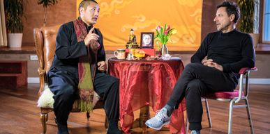 Christoph Bründl and Tulku Lobsang having a discussion