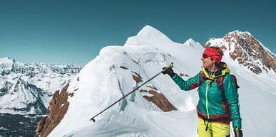 Monika Handl auf Skitour am Kitzsteinhorn