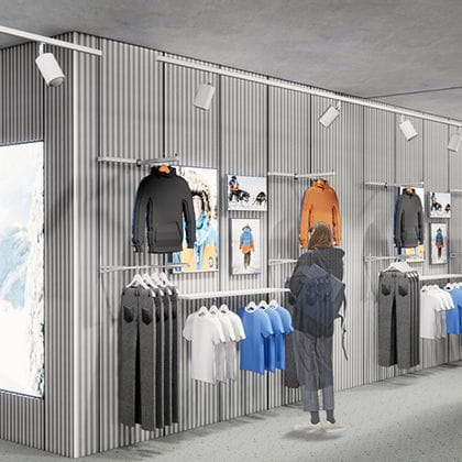 Pop up area in the new flagship store.<br/>